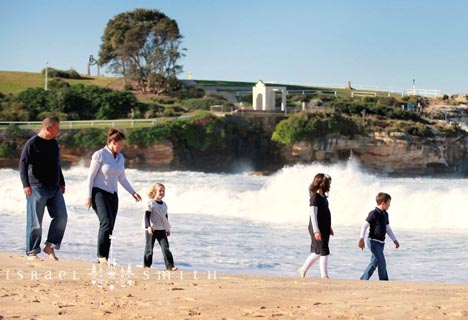 Johanna's Family living it up at Coogee Beach