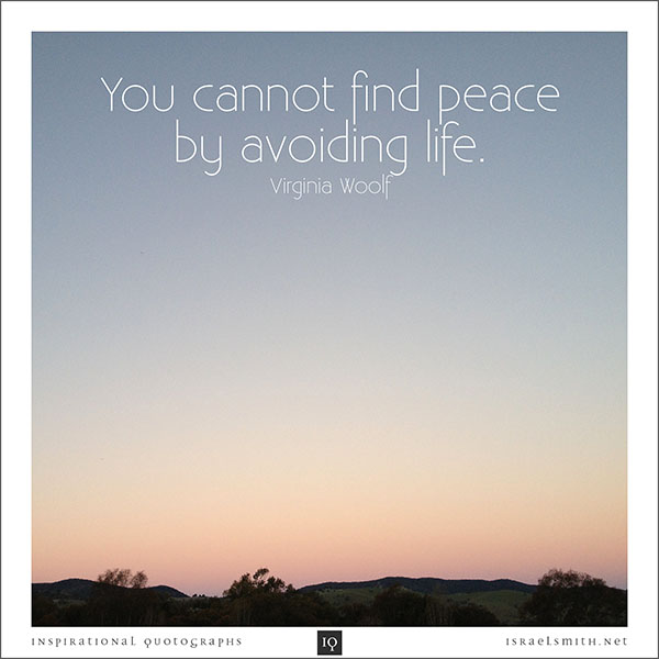 You cannot find peace