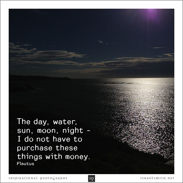 The day, water, sun, moon, night…