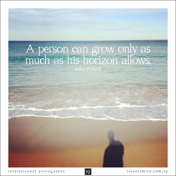 A person can grow