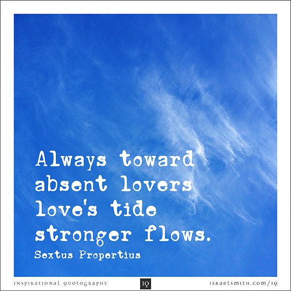 Always towards absent lovers