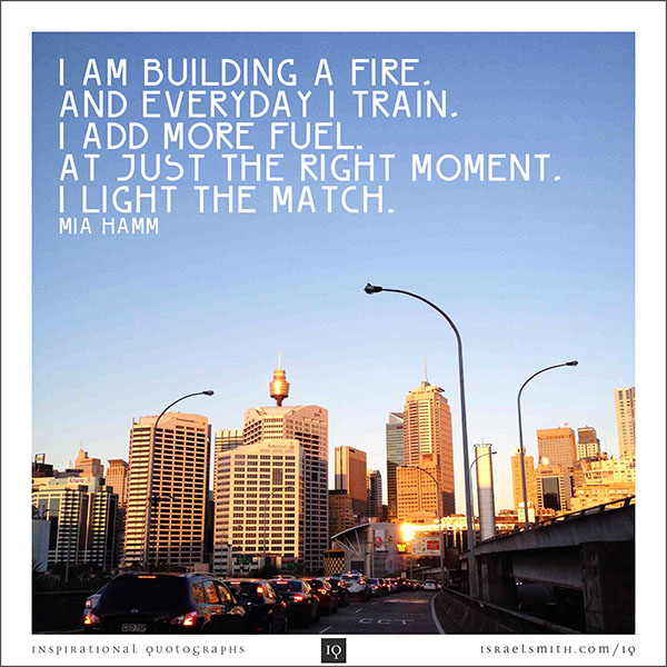I am building a fire.