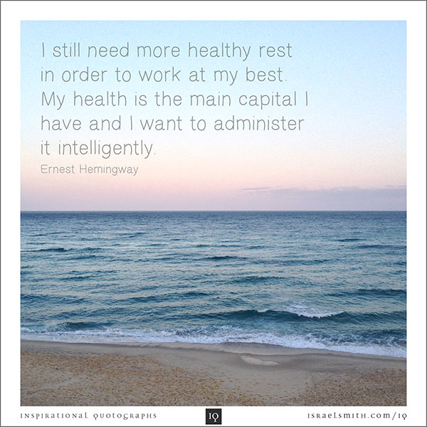 I still need more healthy rest