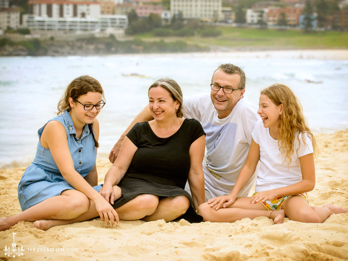 Family photos at Bondi Beach