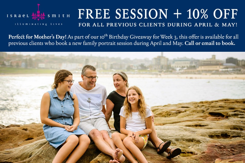 10 Percent Off plus Free Shoots for Existing Clients