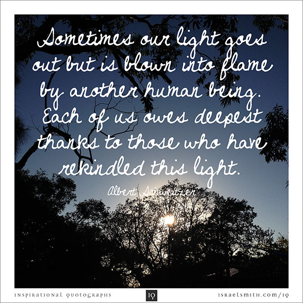 Sometimes our light goes out
