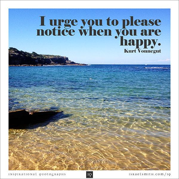 I urge you