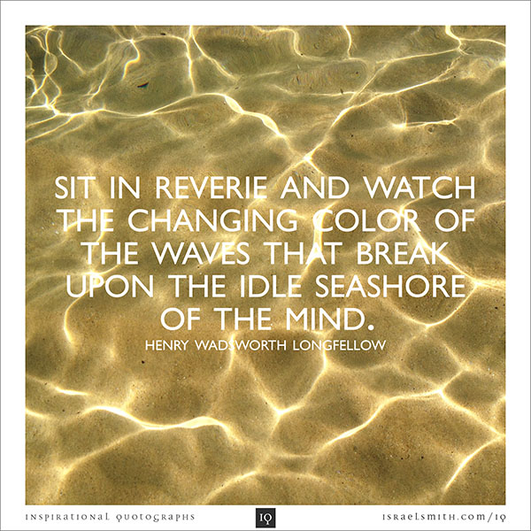 Sit in reverie