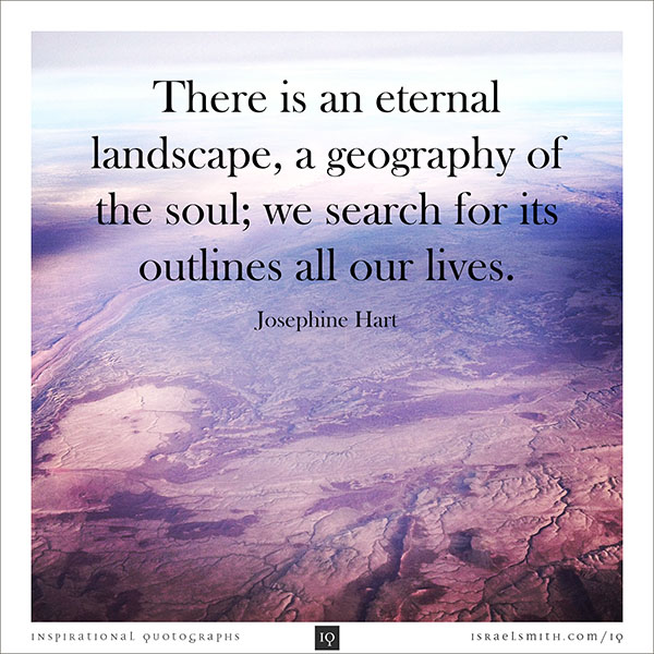 There is an eternal landscape