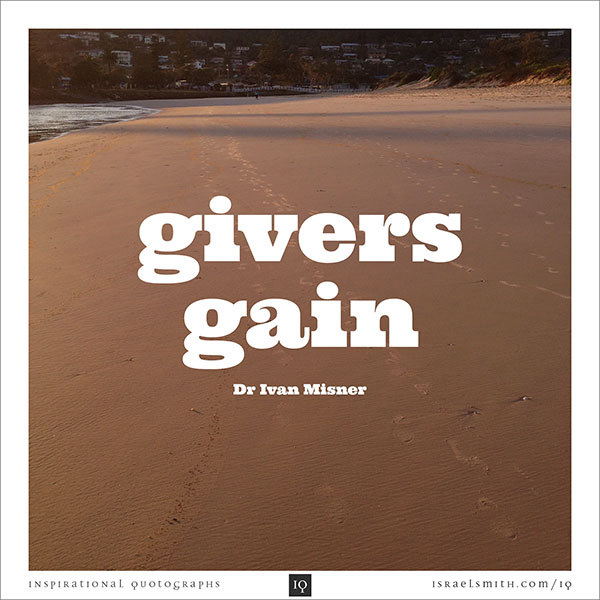 Givers gain