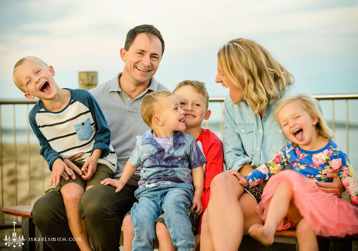 Beach Family Portraits: Sunset at Wanda Beach